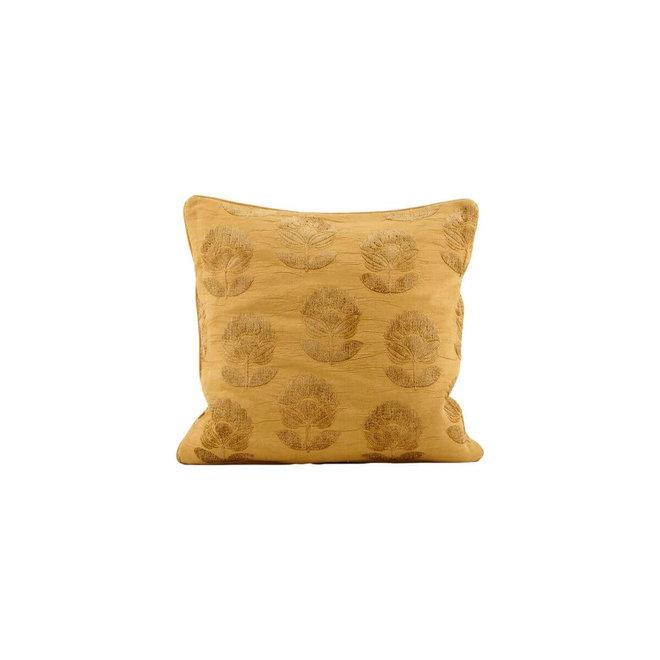 Kussenhoes Velv geel 50x50cm