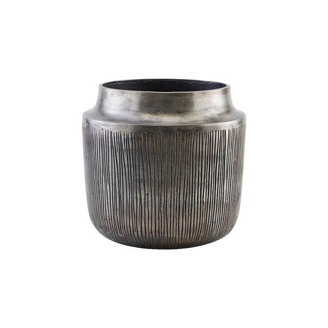 Bloempot Heylo zilver 23cm