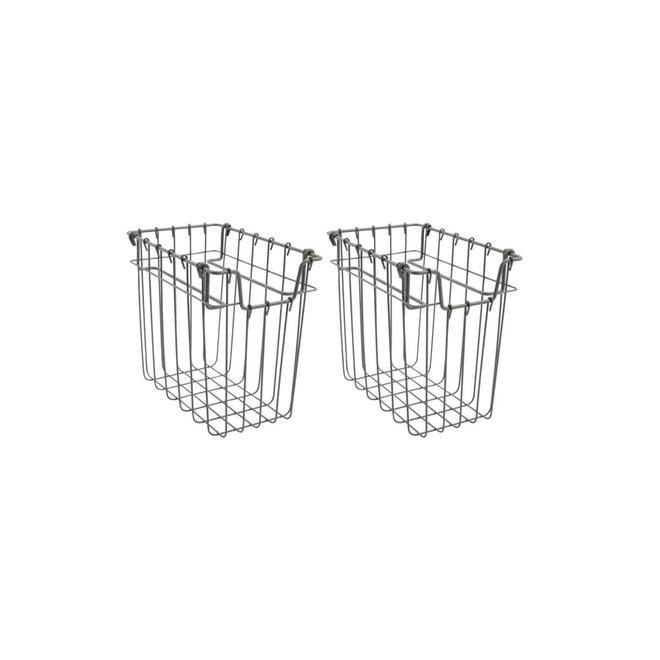 Basket Addis gray 14cm set of 2