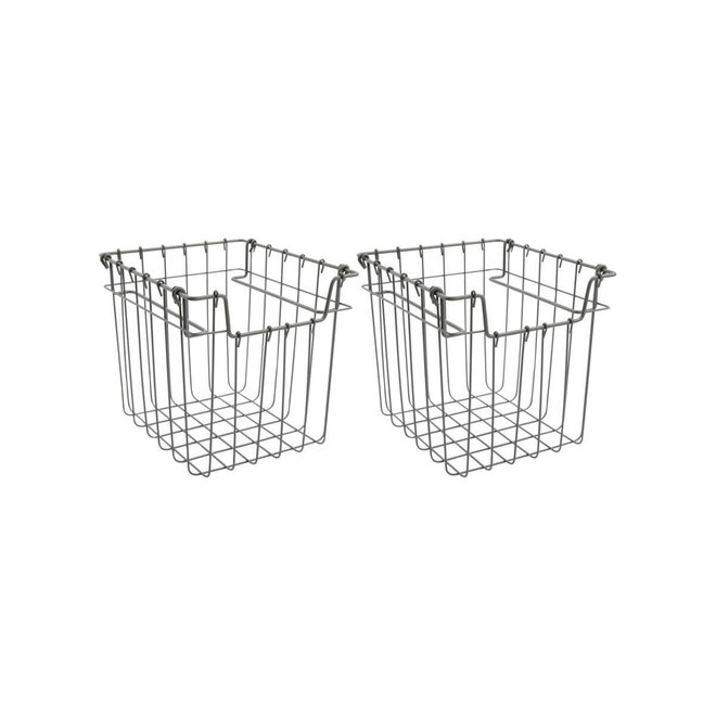 Basket Addis gray 20cm set of 2