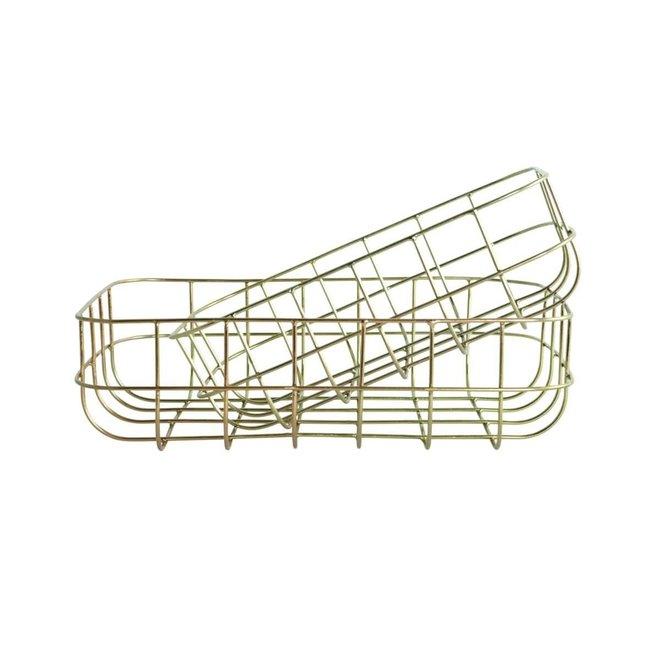 Basket Simply shiny gold 28cm