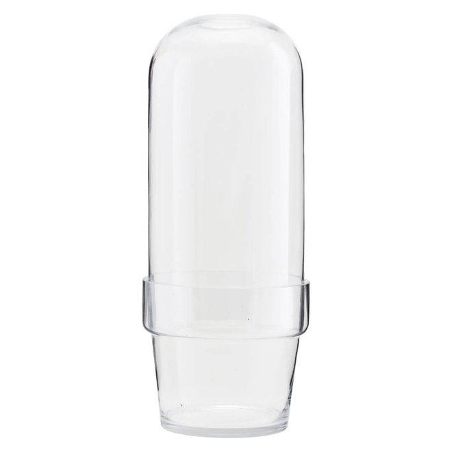 Glazen bol pot helder 32cm