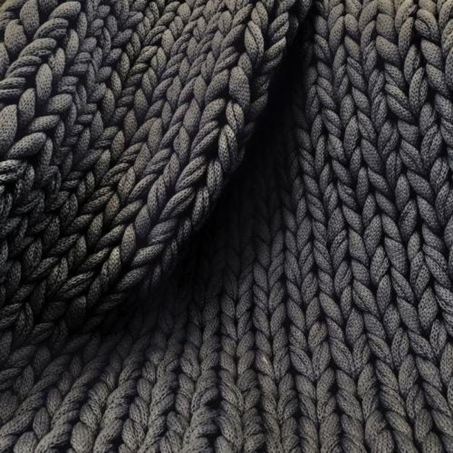 Chunky Plaid Juna dunkelgrau 130x180cm