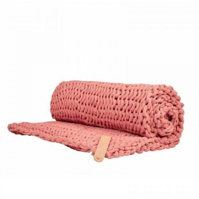 Chunky Plaid Juna Pink 130x180cm