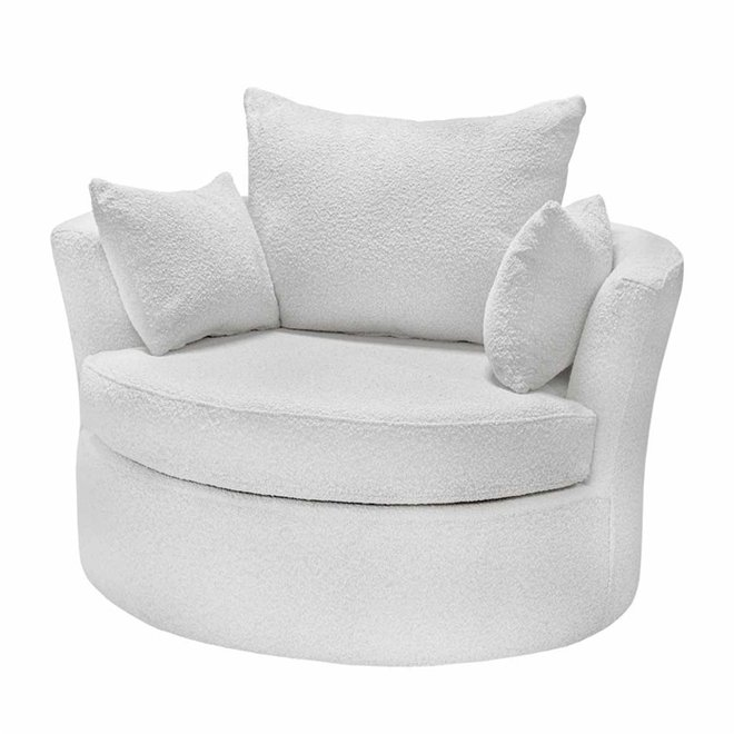 Armchair Phoebe cream 112cm