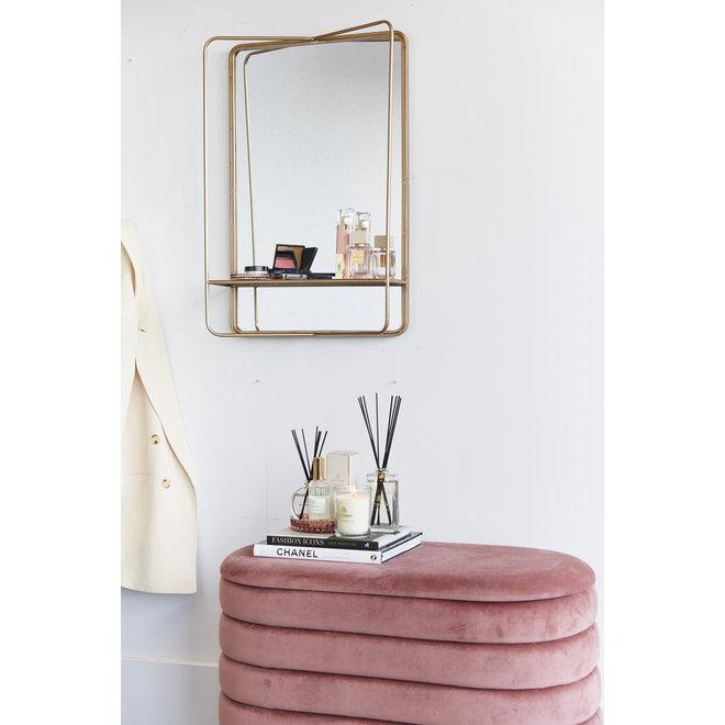 Opbergpoef Beau roze 80cm