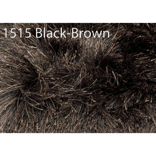 Rug Glossy 1515 black brown 200x300cm