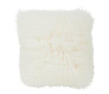 Haans Lifestyle Kussen wol schapenvacht wit