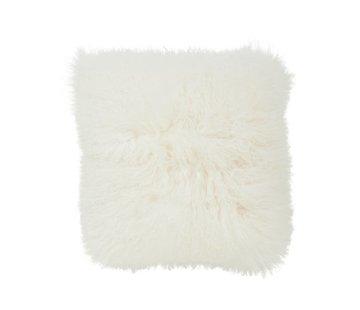 Haans Lifestyle Cushion wool sheepskin white