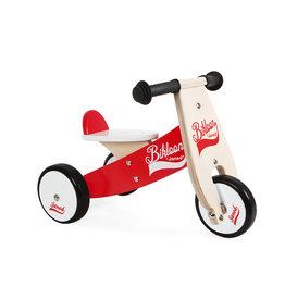 Janod LOOPFIETS - BIKLOON - ROOD/WIT - SMALL