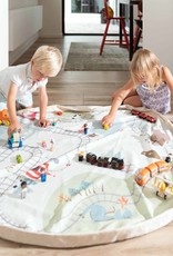 Play & Go OPBERGZAK EN SPEELMAT - TRAINMAP/BEARS