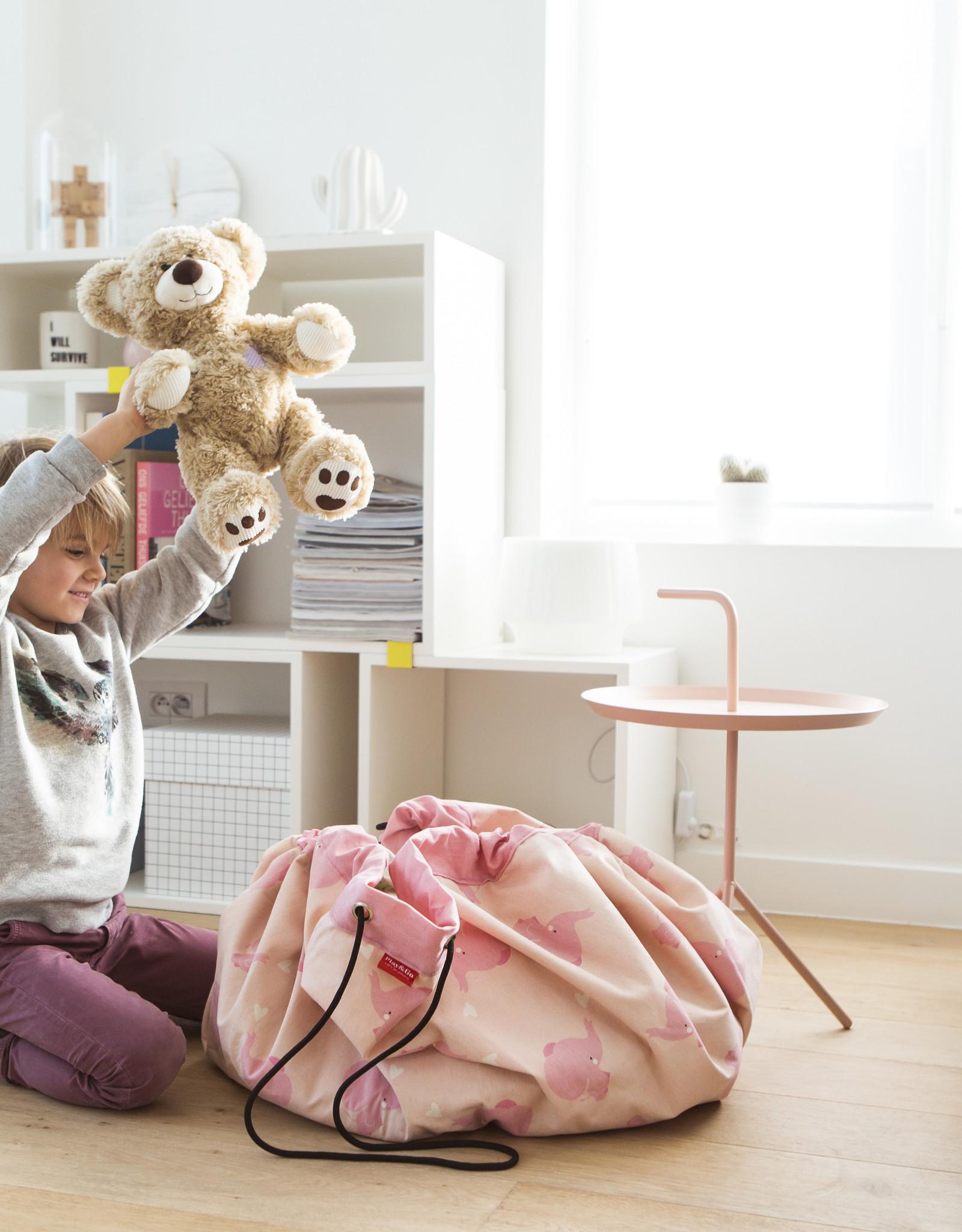 Play & Go OPBERGZAK EN SPEELMAT - PINK ELEPHANT
