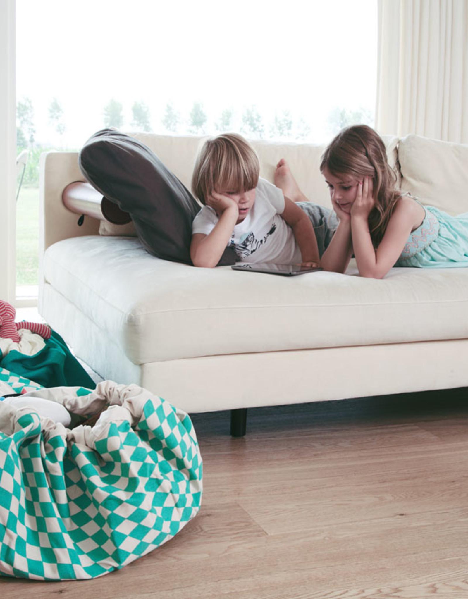 Play & Go OPBERGZAK EN SPEELMAT - GREEN DIAMONDS