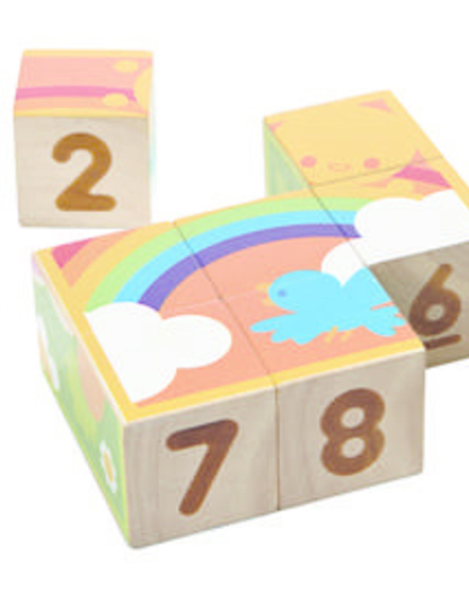 Plan Toys Plan Toys - PUZZEL - KUBUSJES