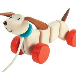 Plan Toys TREKFIGUUR - HAPPY PUPPY
