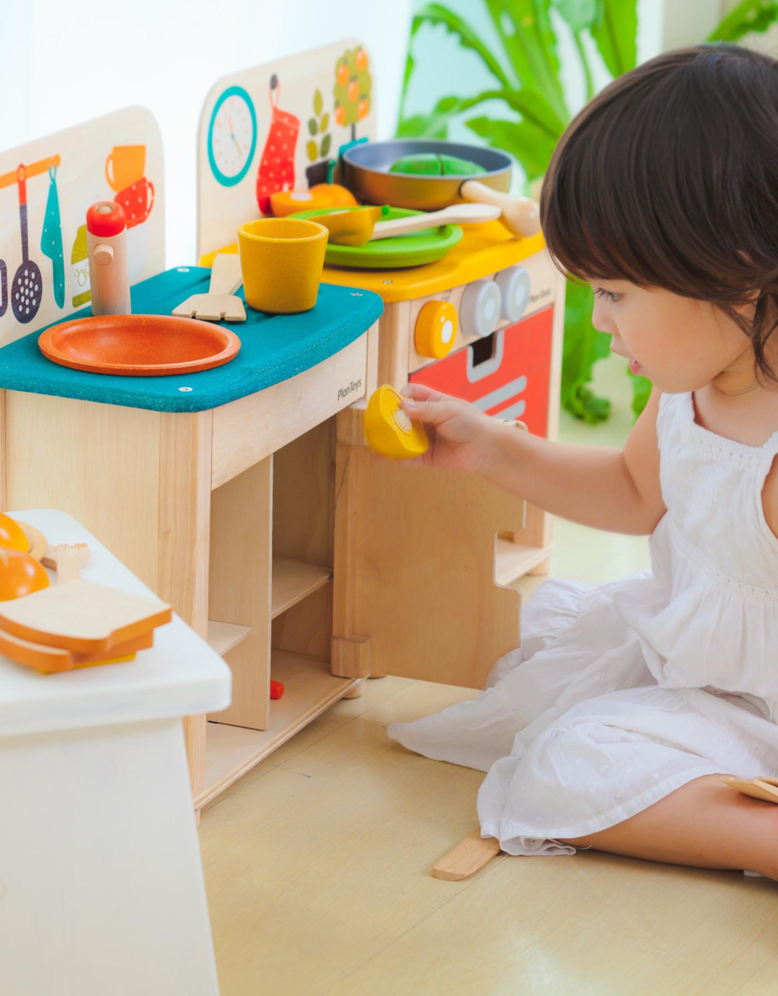 Plan Toys AFWASTAFEL EN KOELKAST