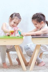 Plan Toys Plan Toys - TAFEL EN STOELTJE - ZWART