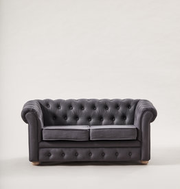 Kid's Concept SOFA CHESTERFIELD - DARK GREY
