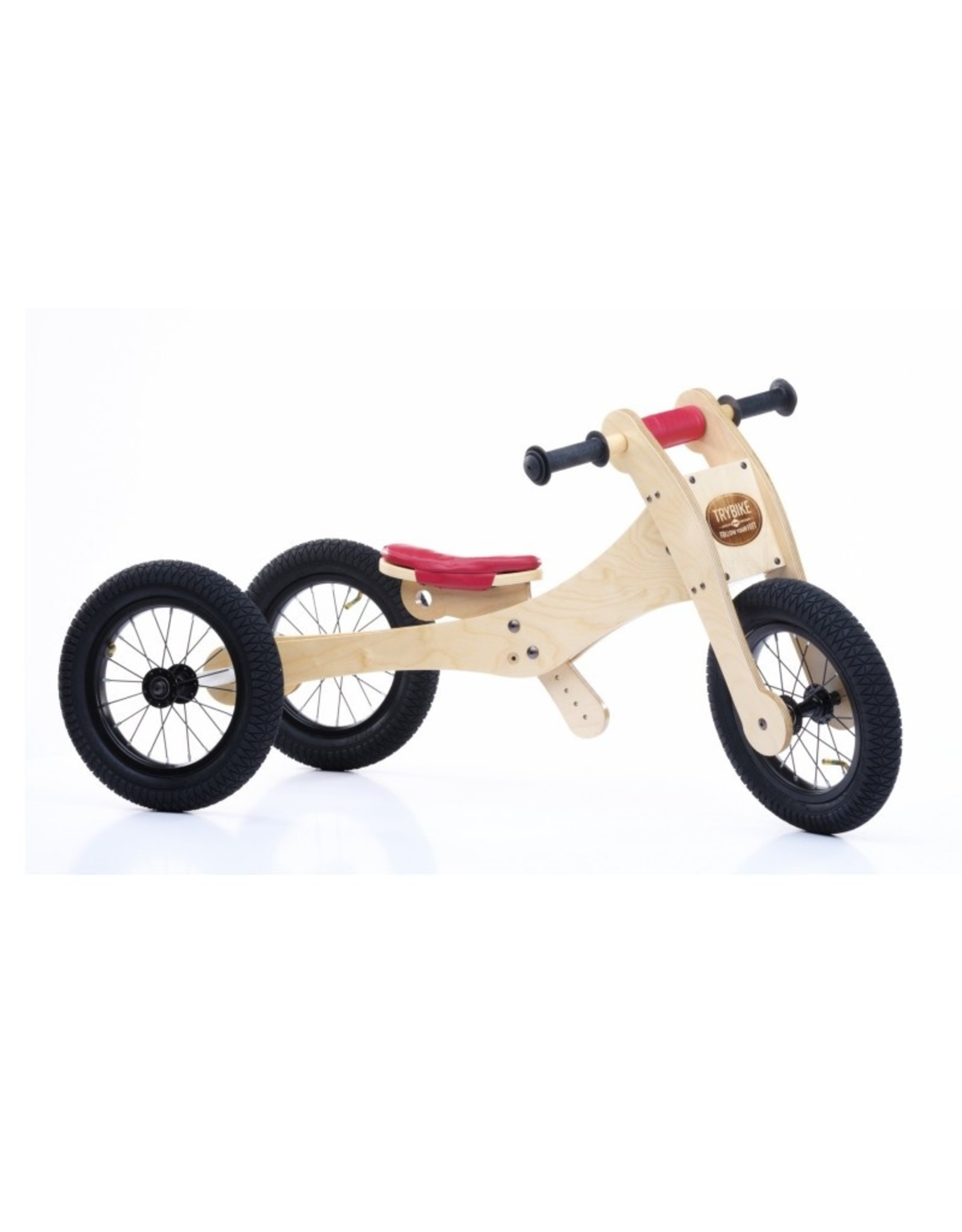 Trybike LOOPFIETS 4-IN-1  WOOD - ROOD