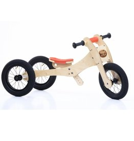 Trybike LOOPFIETS 4-IN-1  WOOD - ORANJE