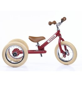 Trybike LOOPFIETS - 2-in-1 - STEEL - VINTAGE RED