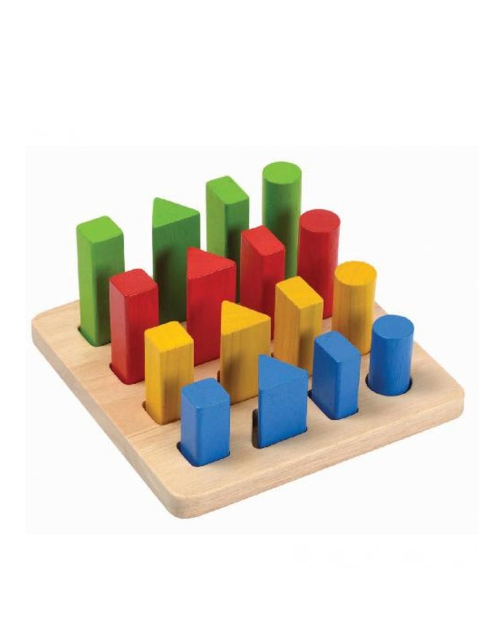 Plan Toys Plan Toys - GEOMETRISCH PIN BORD