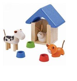 Plan Toys POPPENHUIS - HUISDIEREN