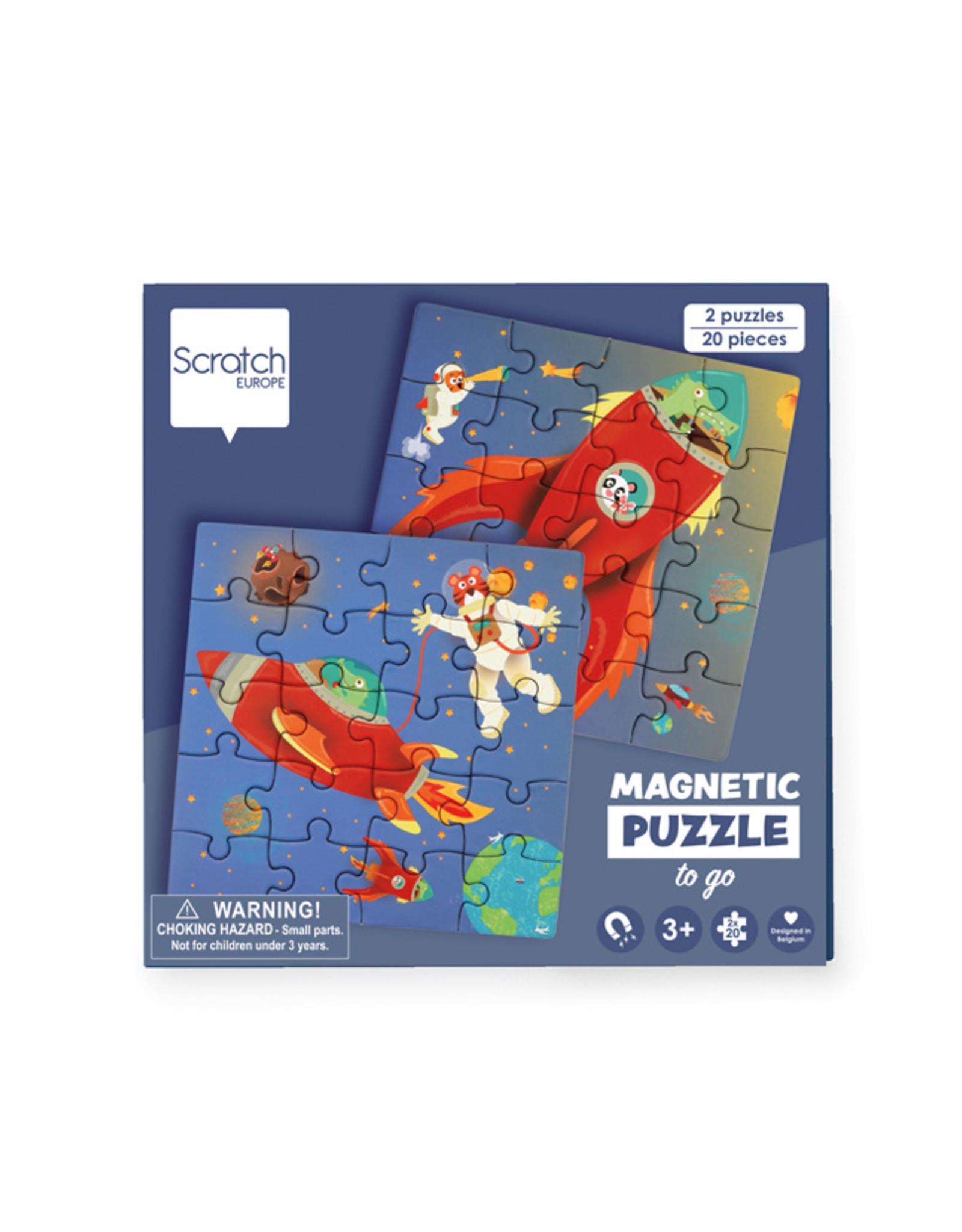 Scratch Europe MAGNETISCHE PUZZELBOEK TO GO - RUIMTE