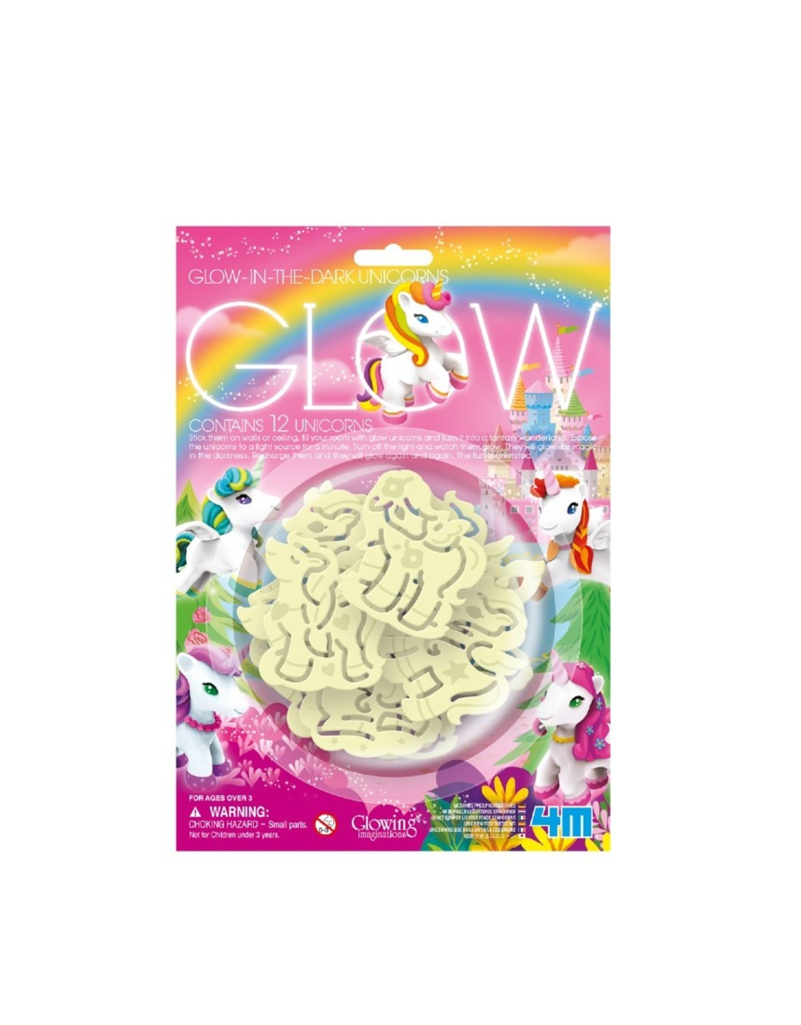 4M GLOW IN THE DARK - 3D UNICORNS/EENHOORNS