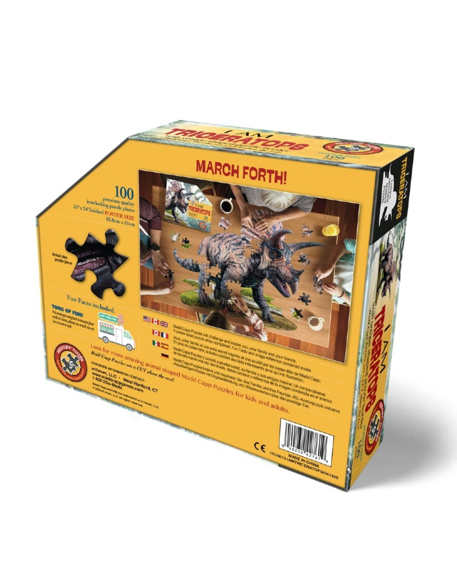Madd Capp I AM PUZZLE - TRICERATOPS  - 100ST