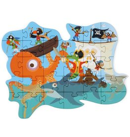 Scratch Europe CONTOUR PUZZEL - PIRAAT - 29ST
