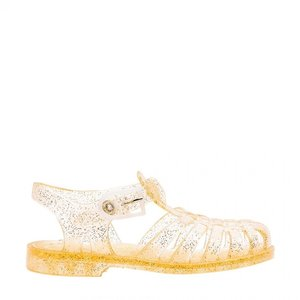 Méduse Meduse | Waterschoentjes Sun goud met glitters