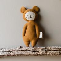 Fabelab | Zachte knuffel rammelaar | Oker beer