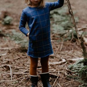 Say Please blauwe jurk met ruit