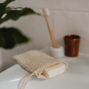 Hydrophil Sisal zeepzakje voor soapbar