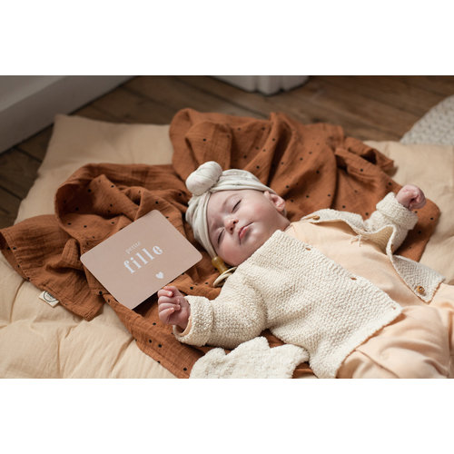 Bonjour Little Bonjour Little | Cool Big Swaddle | Dots Nut