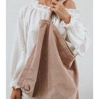 Studio Noos | Dusty pink Rib  mom-bag