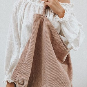 Studio Noos Studio Noos | Dusty pink Rib  mom-bag