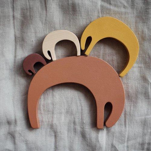 Pinch Toys Pinch Toys | Houten olifanten puzzel 'Earth'
