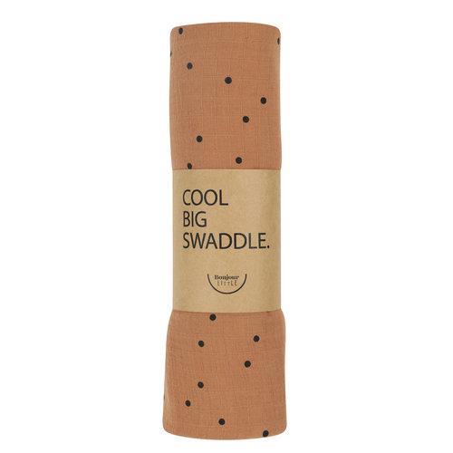 Bonjour Little Bonjour Little | Cool Big Swaddle | Dots Nut