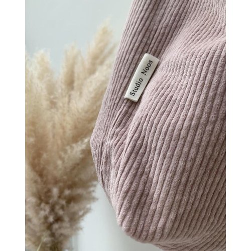 Studio Noos Studio Noos | Dusty pink Rib mom-bag