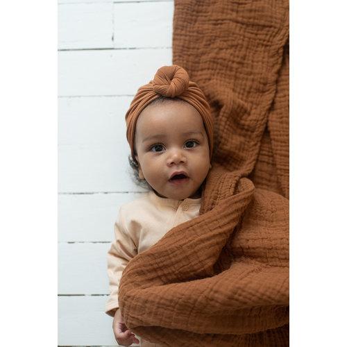 Bonjour Little Bonjour Little   Baby Turban Beanie   Nut