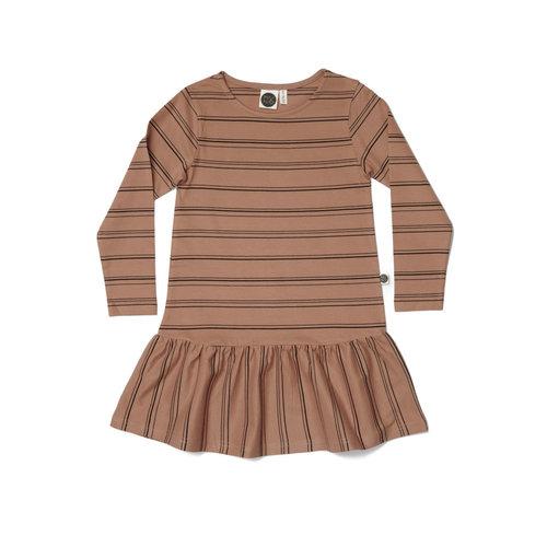 Mainio Mainio   'Stripe Tunic' roze jurk met streep