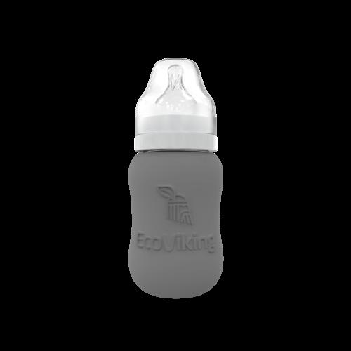 Eco Viking Glazen babyfles met siliconen hoes   180 ml