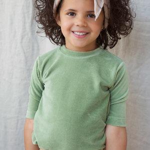 Ammehoela Ammehoela | AM.Sofie.01 | Groen rib t-shirt
