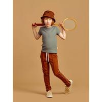 Mainio | Piping sweatpants | bruine joggingbroek