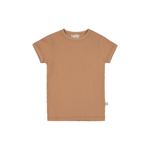 Mainio Mainio | Wafel t-shirt | Toasted nut