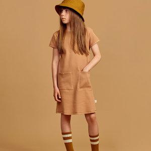 Mainio Mainio | Wafel jurk | Toasted nut