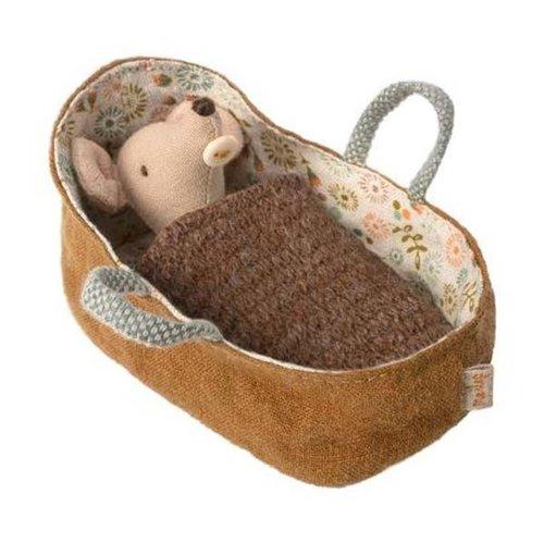 Maileg Maileg | Babymuis in reiswieg