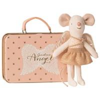 Maileg | Kleine zus | Beschermengel muis in koffertje